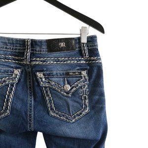 MISS ME Mid Rise Slim Boot Denim Blue Jeans